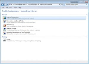 How to repair/ troubleshoot network adapter problems in windows 7