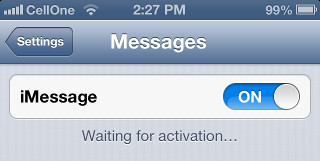 How to fix iMessage Error : Waiting for Activation Error