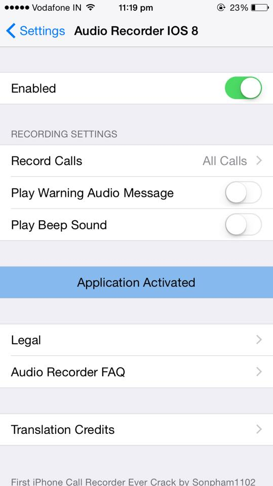 Cydia jailbreak tweak to record calls on iphone ios 8