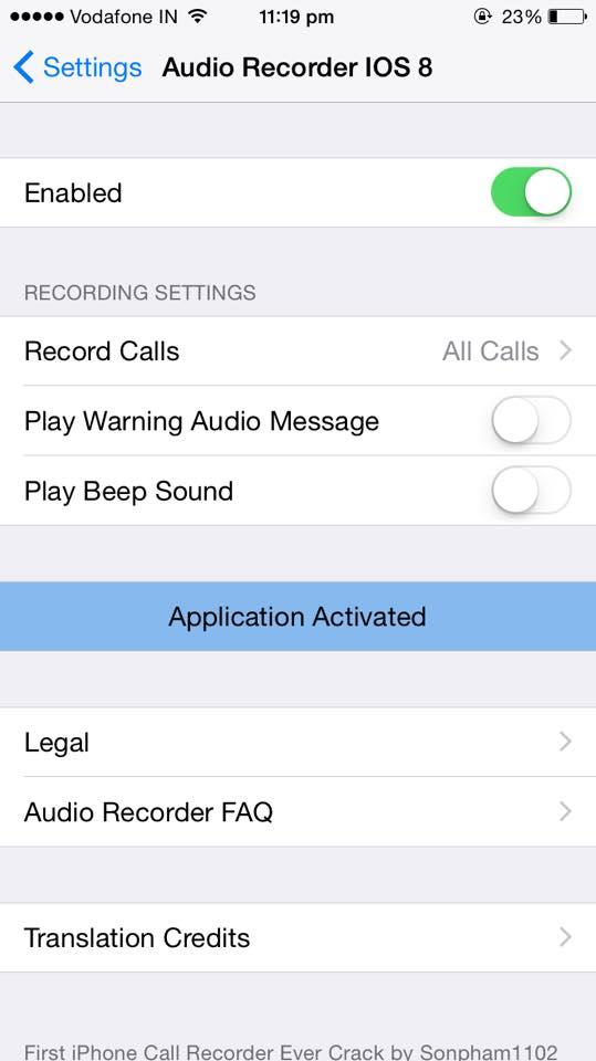 Cydia jailbreak tweak to record calls on iphone ios 8