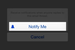 How to turn on notifications for a particular e mail in ios 8.x.x mail app | Get notifications for a particular e mail