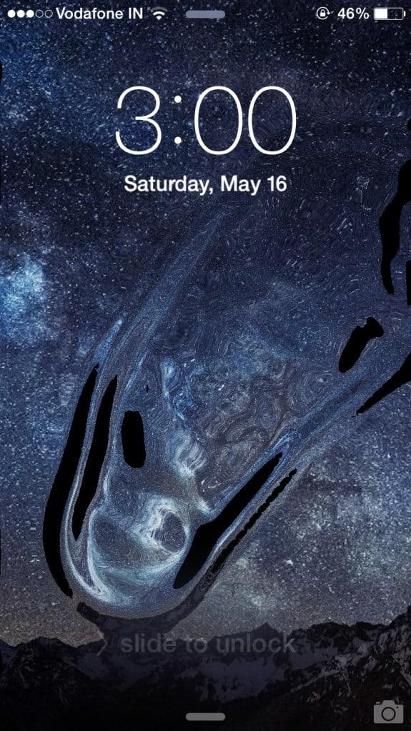 Live Liquid Wallpaper IOS 8 homescreen / Lockscreen in iphone and Ipad