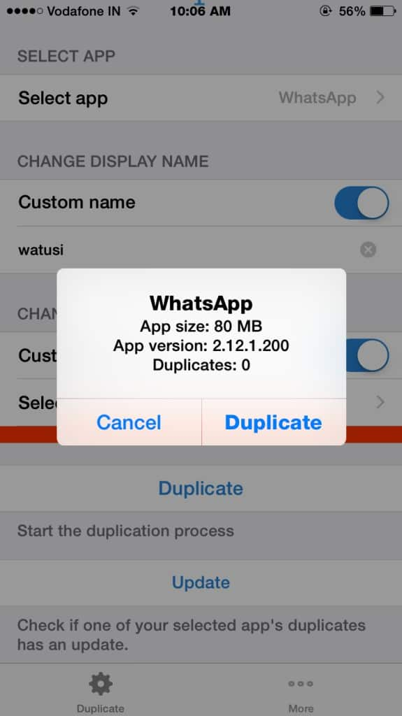 Duplicate Social Apps on Iphone and Ipad ( ios 8 and ios 7 )